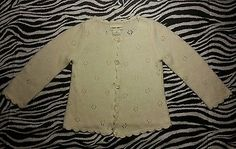 Cherokee Baby Toddler Girl White Ivory Cardigan Sweater Size 2T EUC | eBay