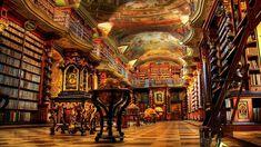 Juste une bibliothèque à Prague.