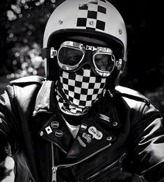 Ton Up Rider. by Steve Turner - Photo 49133048 / Womens Motorcycle Fashion, Motorcycle Style, Biker Style, Motorcycle Helmets, Biker Fashion, Motorcycle Leather, Cafe Racer Vintage, Lagny Sur Marne, Cafe Racer Helmet
