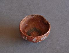 Antique Japanese Zen Red Raku Tea Bowl