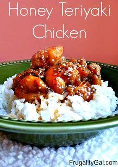Honey teriyaki chicken recipe. Only 322 calories!