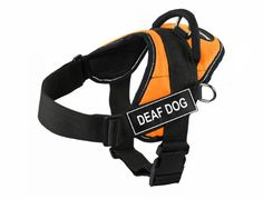 Dean  Tyler Fun Deaf Dog XXSmall Orange Harness with Reflective Trim *** See this great product.Note:It is affiliate link to Amazon.
