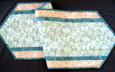 Table Runner  Quilted Table Runner  Dogwood by birdsongquilts