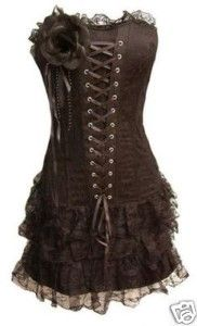 Burlesque Corset Dress - Black Moulin Rouge/Lolita/Goth