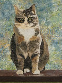 Hannah, cat quilt, by Amy Krasnansky | Seams Like Rain