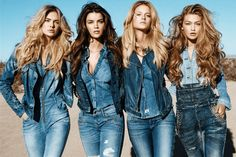 How To Wear Double Denim The trick for getting denim on denim right is all in the pieces you choose. Outlining the basics and general rules of double denim and how to make it work Guess Jeans, All Jeans, Double Denim, Modelos Guess, Outfit 2017, Guess Campaigns, Ad Campaigns, Super Skinny Jean, Cowgirl Fashion