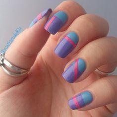 Stripes nails - nail art tricolore