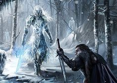 """White walkers in the series are different from The Others in the books. George himself describes them as following: """"The Others are not dead. They are strange, beautiful… think, oh… the Sidhe made of ice, something like that… a different sort of life… inhuman, elegant, dangerous"""". He tells of the ice swords, and the reflective, camouflaging armor that picks up the images of the things around it like a clear, still pond."""