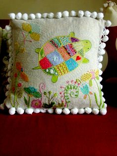 super cute idea for embroidered baby blanket
