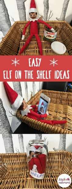 Easy Elf on the Shelf ideas. Because trying to come up with 24 different Elf on the Shelf ideas can often be tricky - and time consuming!