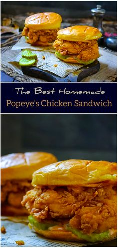 Talk about Chicken Popeyes, a soft crispy chicken sandwich with spicy mayo sauce oh yes because it tastes so spectacular. Their place is very busy with long lines just to get chicken sandwiches. I ate Popeyes Chicken Sandwich Recipe, Homemade Chicken Burgers, Popeyes Fried Chicken, Crispy Chicken Burgers, Spicy Chicken Sandwiches, Chicken Patties, Fried Chicken Sandwich, Spicy Chicken Recipes, Recipes