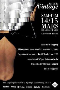 Salon du Vintage à Paris : 14 et 15 mars 2015