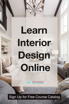Learn interior design and interior decorating. NYIAD's interior design course allows you to learn at home. Interior Design Degree, Interior Design Courses Online, Interior Design Classes, Home Interior Design, Interior Design Programs, Luxury Interior, Decorating Tips, Interior Decorating, Decorating Websites