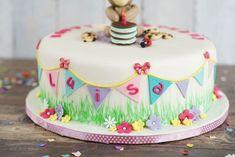Sallys Rezepte - Kinder Geburtstagstorte mit Teddy / fruchtige Vanilletorte / Torte für Luisa
