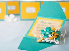 Customize M&M's with words and images to turn them into favors that are uniquely yours.  Image Source: Mymm...
