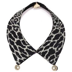 Leopard and Pearl Collar by Gemma Lister