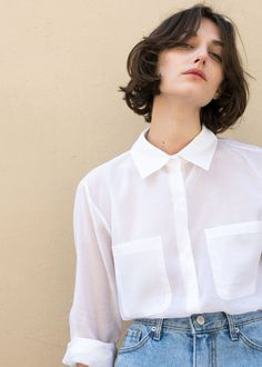 c08b75a7b5ef62  newarrivals  White  Sheer  Silk  Pocket  Shirt  Top  Thefrankieshop