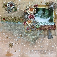 """December Snow"" for Leaky Shed Studio / BoBunny Product Swap - Scrapbook.com"