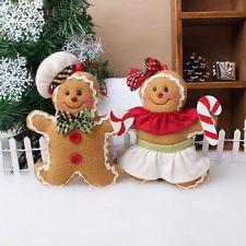 Christmas Gingerbread man Ornaments Festival Xmas Tree Hanging Decor Marked JB