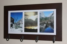DIY Picture Frame with hooks. Hallway