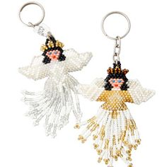 Beaded Angel Key Chain. Colors will vary. $5.00