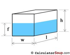 Website for calculating water reservoir tank capacity by tank shape and tank measurements.