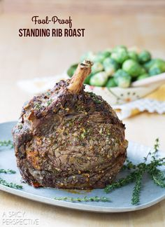 Standing Rib Roast Recipe :: Perfect for a holiday dinner!