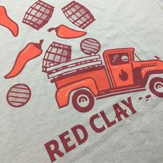 2/0 waterbased print on @bellacanvas for @redclayhotsauce. Visual hotness created by @blakefilisuarez. #art #graphicdesign #artwork #graphic #photooftheday #design #illustration #logo #branding #apparel #craft #usa #screenprinting #fashion #vector #nofilter #cool #print #vsco #vscocam #waterbased #charleston #southcarolina #support #cool #style #tshirt #pantone #parkcircle #ink #hot by grizzlywheeler