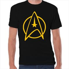 Camiseta friki logo Star Trek