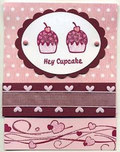 Hey Cupcake Card, Stamps, & DIY Directions from GreatImpressionsStamps.com