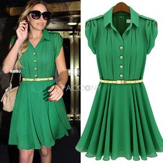 2013 Fashion Women's Clothing Summer New Arrivals Short Sleeve Lapel Single-breasted Bodycon Ruffled Dresses