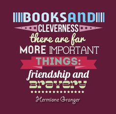 friendship, harry potter, harry potter quotes, hermione - inspiring picture on Favim.com
