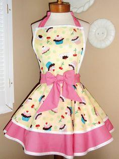 cute retro apron