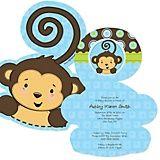 Monkey Baby Shower invitations For Boys | Monkey Boy - Baby Shower Theme | BigDotOfHappiness.com