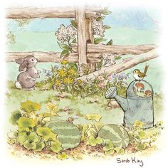 Sarah Kay Easter Inspiration... Sarah Kay, Mary May, Peter Rabbit And Friends, Cute Animal Illustration, 3d Pictures, Vintage Drawing, Holly Hobbie, Cute Drawings, Art Inspo