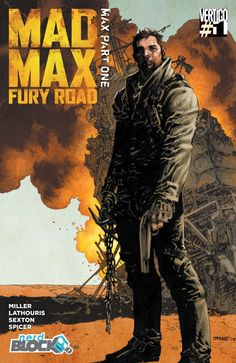 Mad Max: Fury Road #1 Nerd Block variant cover (2015) by Jim Lee, colours by Nathan Fairbairn *