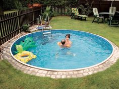 20 Awesome Small Inground Swimming Pools Design Ideas for Your Backyard - Wasser im Garten - Piscinas Small Inground Swimming Pools, Homemade Swimming Pools, Homemade Pools, Swimming Pool Designs, Inground Pool Diy, Plastic Swimming Pool, Swiming Pool, Backyard Pool Landscaping, Small Backyard Pools