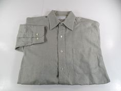 Brooks Brothers Makers Mens Button Front Dress Shirt Green Size 15 1/2 - 34/35  #BrooksBrothersMakers