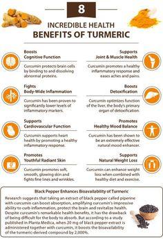 8 incredible health benefits of  turmeric