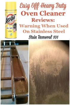 Warnings from many users about what happens when you use Easy Off heavy duty oven cleaner on stainless steel surfaces {on Stain Removal 101} #EasyOff #OvenCleaner #StainlessSteelCleaner