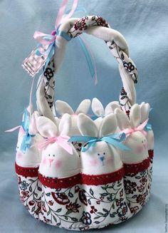 Купить Корзина пасхальная - белый, корзинка, корзина, корзиночка, Пасха, пасхальный сувенир, пасхальный подарок