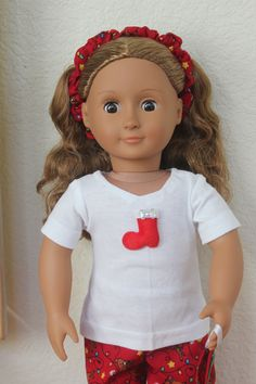 18 inch Doll Clothes Christmas Red Reindeer Pajamas will fit most 18 inch dolls by Sariahsdollcloset on Etsy