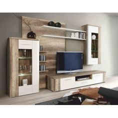 like back panel - we need tall cabinet to have doors on for files storeage etc. Apartment Room, Living Room Tv Unit, Pallet Furniture Designs, Living Room Decor, Living Room Wall Units, Living Room Partition Design, Interior Design Living Room, Wall Tv Unit Design, Living Room Tv