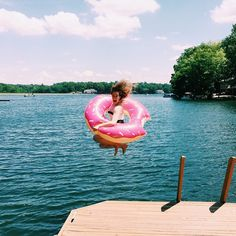 This fan is nuts for donuts! Nothing like jumping off the dock into the lake in our donut float! @jennifer_oakes