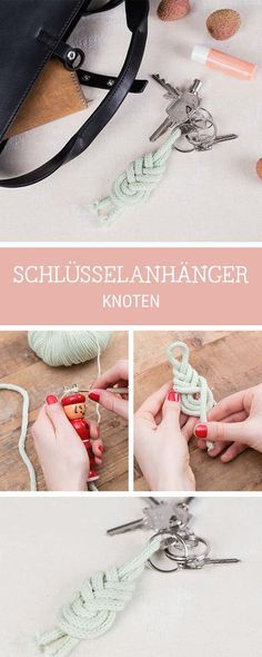 DIY-Anleitung: Schlüsselanhänger knoten, Seemannsknoten / diy inspiration for a knotted key chain via DaWanda.com