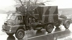 British Army of the Rhine Bedford RL radio relay truck with spare generator.