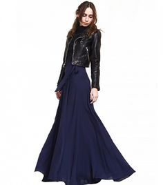 Reformation flowy Nyssa Skirt with tie closure in royal