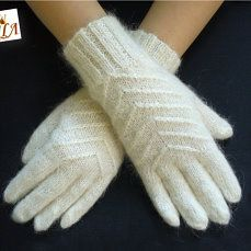 Feather gloves and mittens