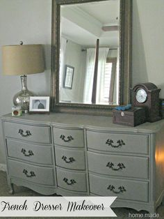 I love how the mirror sits on the dresser