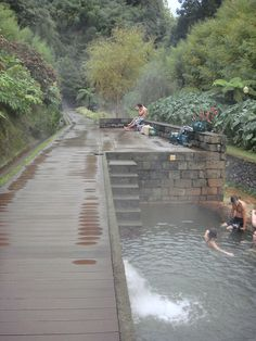 Furnas, Sao Miguel, Azores.  Thermal pools.